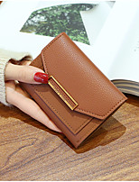 cheap -Women's Bags PU Wallet Buttons for Shopping Casual All Seasons Wine Coffee Gray Blushing Pink Black
