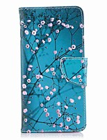 cheap -Case For Nokia Nokia 8 Nokia 5 Card Holder Wallet with Stand Flip Magnetic Full Body Cases Flower Tree Hard PU Leather for Nokia 8 Nokia