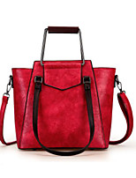 cheap -Women Bags PU Tote Zipper for Casual All Season Khaki Gray Red Black Green
