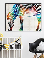 cheap -Animals Oil Painting Wall Art,Aluminum Alloy Material With Frame For Home Decoration Frame Art Bedroom Indoor
