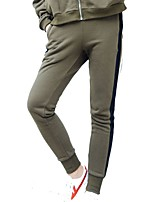 cheap -Women's Running Pants Breathability Pants / Trousers Running/Jogging Cotton Polyester Spandex Army Green Black XL L M