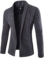 cheap -Men's Daily Solid Color V Neck Cardigan, Long Sleeves Spring