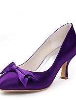 Недорогие -Для женщин Обувь Шёлк Весна Лето Туфли лодочки Свадебная обувь На низком каблуке Открытый мыс Бант для Свадьба Для вечеринки / ужина