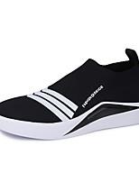 abordables -Homme Chaussures Tulle Polyuréthane Printemps Eté Confort Semelles Légères Mocassins et Chaussons+D6148 Marche pour Décontracté Noir