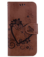 cheap -Case For Apple iPhone X iPhone 8 Wallet with Stand Flip Embossed Pattern Full Body Heart Hard PU Leather for iPhone X iPhone 8 Plus