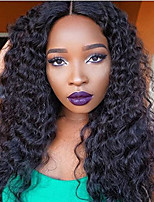 cheap -100% Brazilian Unprocessed Virgin Kinky Curly Human Hair Wig Lace Front Natural Color Wig with Baby Hair