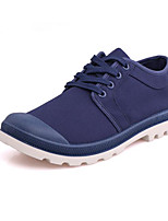 cheap -Men's Shoes Canvas Spring Fall Comfort Oxfords for Casual Blue Gray Black
