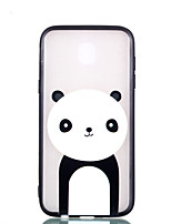 cheap -Case For Samsung Galaxy J7 (2017) J5 (2017) Transparent Embossed Pattern Back Cover Panda Hard PC for J7 (2017) J5 (2017) J3 (2017)
