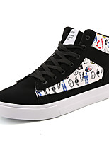 cheap -Men's Shoes PU Spring Fall Comfort Sneakers for Casual Black Black/White