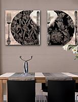 Недорогие -Холст для печати Modern,2 панели Холст С картинкой Декор стены Украшение дома