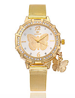 cheap -Women's Fashion Watch Wrist watch Chinese Quartz Imitation Diamond Alloy Band Casual Butterfly Gold