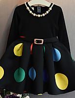 cheap -Girl's Dot Dress,Cotton Summer Sleeveless Simple Black