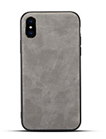 billiga -fodral Till Apple iPhone X / iPhone 8 Frostat Skal Enfärgad Hårt PU läder för iPhone X / iPhone 8 Plus / iPhone 8