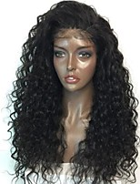 cheap -Premier Affordabel Brazilian Unprocessed Human Hair Glueless Lace Front Wigs Long Curly Wave Hair Wigs For Afircan Americans