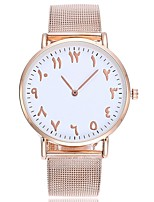 cheap -Women's Fashion Watch Wrist watch Chinese Quartz Large Dial Alloy Band Casual Minimalist Silver Rose Gold