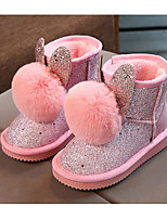 cheap -Girls' Shoes PU Winter Fall Comfort Snow Boots Boots Booties/Ankle Boots for Casual Pink Gray Black