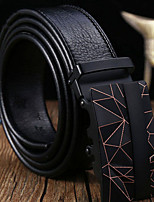 cheap -Genuine Leather Waist Belt,Black Casual