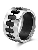 cheap -Men's Women's Band Rings Casual Elegant Stainless Steel Geometric Jewelry Daily Bar