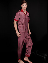 abordables -Costumes Pyjamas Homme,Points Polka Moyen Polyester Violet