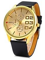 Недорогие -Жен. Наручные часы Китайский Кварцевый Повседневные часы Кожа Группа Cool Черный