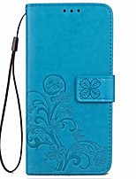 cheap -Case For OnePlus 5 OnePlus 5T Card Holder with Stand Magnetic Embossed Full Body Flower Hard PU Leather for One Plus 5 OnePlus 5T One