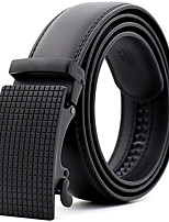 cheap -Men's Genuine Leather Waist Belt,Black Party Work Casual Plaid Modern Style Stylish