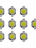 cheap -10W COB 800LM 3000-3200K/6000-6200K Warm White/White Light LED Chip DC30-36V 10Pcs