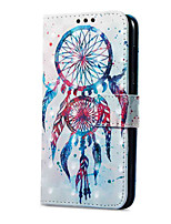 cheap -Case For Huawei P9 lite mini Card Holder Wallet with Stand Flip Magnetic Pattern Full Body Dream Catcher Hard PU Leather for P9 lite mini