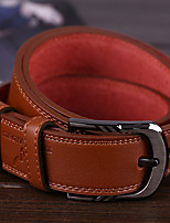 cheap -Genuine Leather Waist Belt,Black Light Brown Khaki Casual