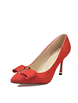 cheap -Women's Shoes Cashmere Spring Comfort Heels Stiletto Heel Pointed Toe Bowknot for Dress Red Black