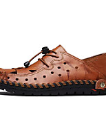 Недорогие -Муж. обувь Полиуретан Лето Удобная обувь Мокасины и Свитер для Повседневные Черный Коричневый Темно-русый
