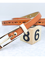 cheap -Unisex Genuine Leather Waist Belt,Brown Casual Pure Color