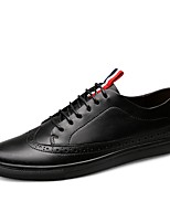 cheap -Shoes Cowhide Leather Spring Fall Driving Shoes Comfort Sneakers for Casual Office & Career Black