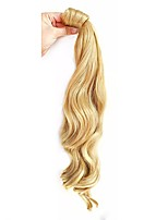 cheap -20 inch Dark Wine Platinum Blonde Light Blonde Dark Auburn Medium Auburn Clip In Wavy Ponytails Wrap Around Human Hair Hair Piece Hair