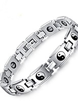 cheap -Men's Chain Bracelet , Vintage Stainless Steel Circle Jewelry Gift Daily Costume Jewelry