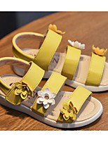 cheap -Girls' Shoes Leatherette Spring Fall Comfort Sandals for Casual Pink Yellow White