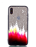 cheap -Case For Apple iPhone X iPhone 8 Transparent Embossed Pattern Back Cover Tree Hard PC for iPhone X iPhone 8 Plus iPhone 8 iPhone 7 Plus