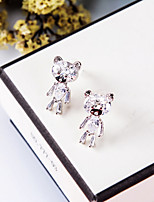 cheap -Women's Stud Earrings Rhinestone Basic Animal Design Rhinestone Silver Plated Jewelry For Wedding Party