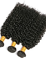 cheap -brazilian kinky curly wave human hair 3 bundles   free part natural color non-remy