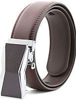 cheap -Men's Genuine Leather Alloy Waist Belt,Brown Work Casual Solid Stylish