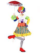 abordables -Burlesques Payaso Circo Disfrace de Cosplay Ropa de Fiesta Mujer Carnaval Festival / Celebración Disfraces de Halloween Arco iris Bloques