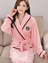 abordables -Costumes Pyjamas Femme,Couleur Pleine Epais Polyester Fuchsia