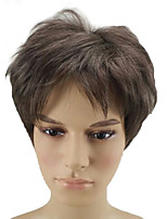 cheap -Synthetic Hair Wigs Curly Pixie Cut Natural Wigs Short Brown