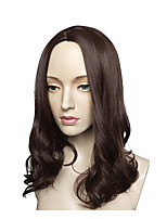 cheap -Synthetic Hair Wigs Water Wave Natural Hairline Layered Haircut Celebrity Wig Natural Wigs Cosplay Wig Long Medium Brown