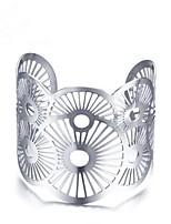 abordables -Femme Manchettes Bracelets , Rétro Acier inoxydable Forme Géométrique Bijoux Quotidien