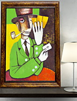 cheap -Animals Oil Painting Wall Art,Aluminum Alloy Material With Frame For Home Decoration Frame Art Living Room