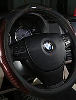 abordables -cubiertas del volante automotriz (fibra de carbono de cuero) para universal