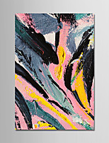 cheap -Hand-Painted Abstract Vertical, Comtemporary Modern Canvas Oil Painting Home Decoration One Panel