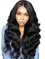cheap -7A Grade Brazilian Virgin  Hair Lace Front Wigs Natural Wavy With Baby Hair Glueless Lace Wigs For Black Women