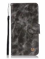 Недорогие -Кейс для Назначение LG LG K10 StyLo 3 Q6 Plus Бумажник для карт Кошелек со стендом Флип Чехол Сплошной цвет Твердый Кожа PU для LG X